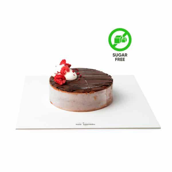 tarta chocolate y frambuesas sin azucar